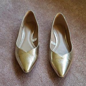 Women's Gold Flats
